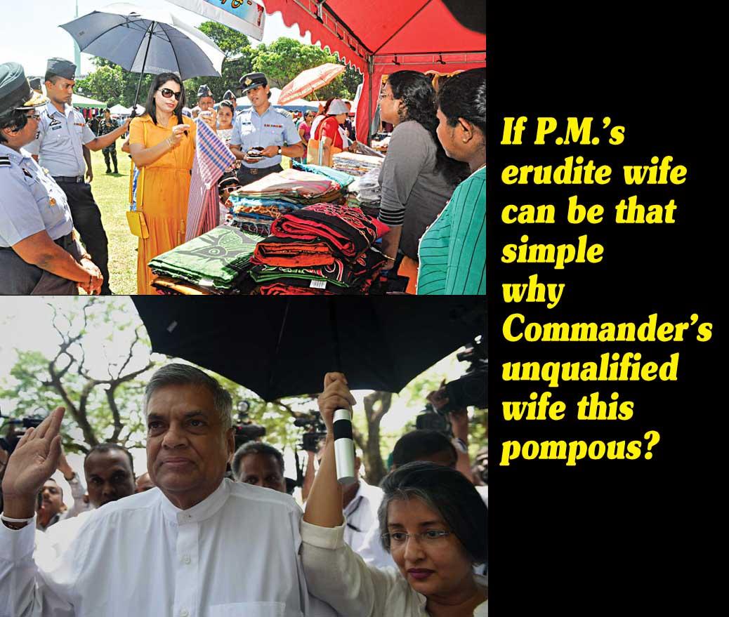 LEN - www lankaenews com   If P M 's erudite wife can be